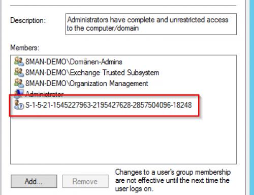 Unaufgelöste SIDs in lokalen Windows-Server-Gruppen, gibt es das wirklich?