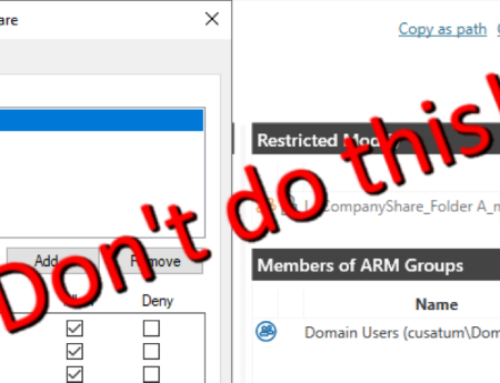 """Why """"Restricted Modify"""" might not be a good idea and how to fix it"""